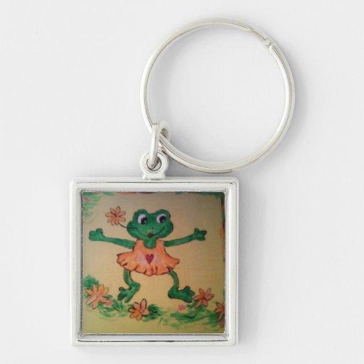 Dancing frog key chain