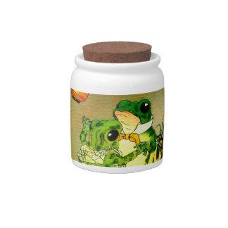 Dancing Frogs Candy Jars