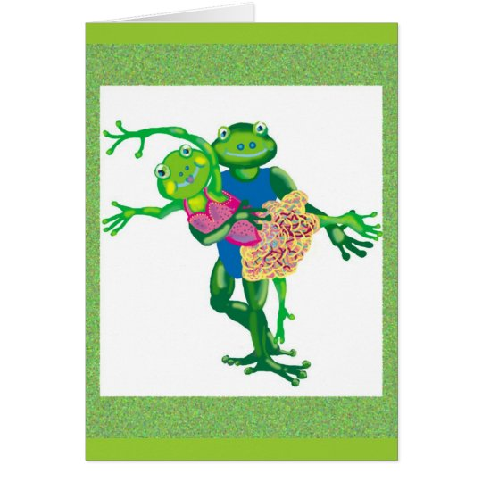 dancing frogs card