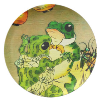Dancing Frogs Dinner Plate