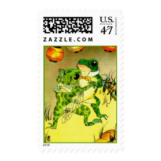 Dancing Frogs Postage Stamp