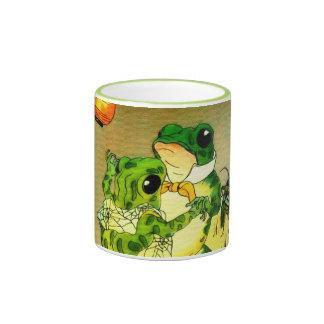 Dancing Frogs Ringer Mug