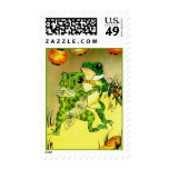 Dancing Frogs Stamp
