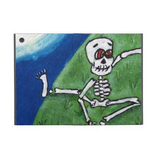 Dancing Funny Skeleton Bat Moon Halloween Cover For iPad Mini