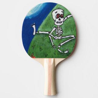 Dancing Funny Skeleton Bat Moon Halloween Ping-Pong Paddle