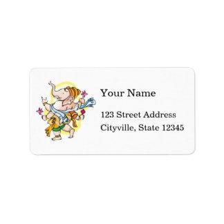 Dancing Ganesha Personalized Address Labels