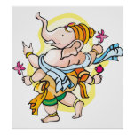 Dancing Ganesha Posters