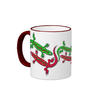 Dancing Geckos Ringer Mug