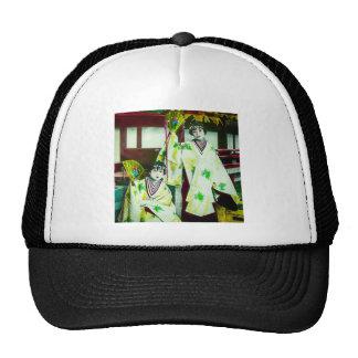 Dancing Geisha In Old Japan Vintage Japanese Trucker Hat