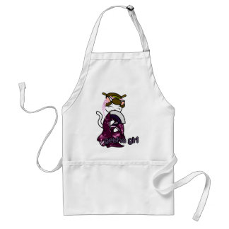 Dancing Geisha Kitty Adult Apron