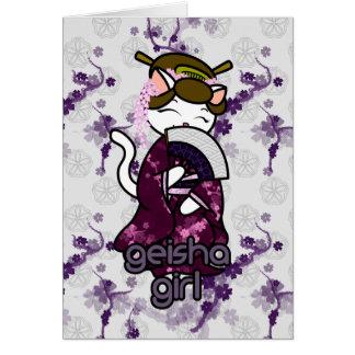 Dancing Geisha Kitty Card