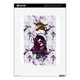 Dancing Geisha Kitty iPad 3 Skins