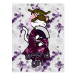Dancing Geisha Kitty Post Card
