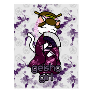 Dancing Geisha Kitty Postcard