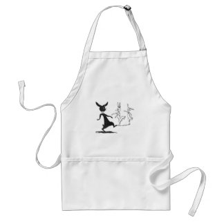 Dancing Ghostly Rabbits Vintage Louis Wain Adult Apron