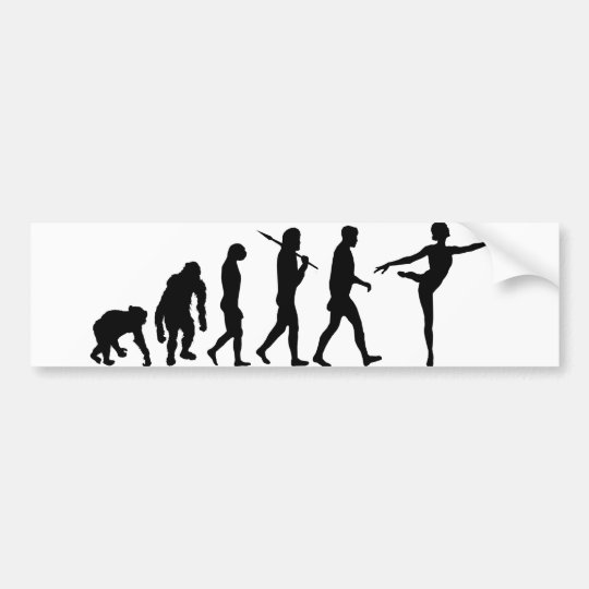 Dancing gifts for ballet and modern dancers bumper sticker