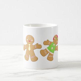 dancing gingerbread coffee mug