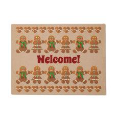 Dancing Gingerbread Cookies Doormat