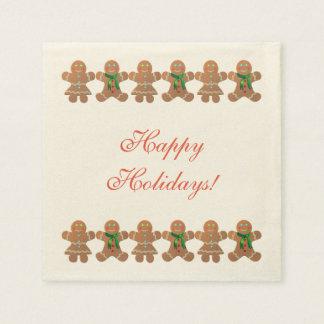 Dancing Gingerbread Cookies Paper Napkin
