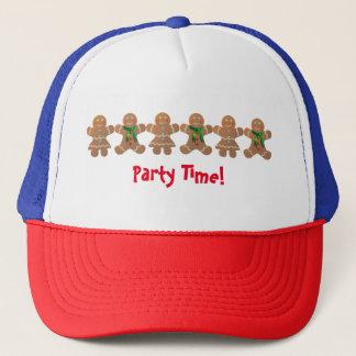 Dancing Gingerbread Cookies Trucker Hat
