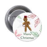 Dancing Gingerbread Man Pins