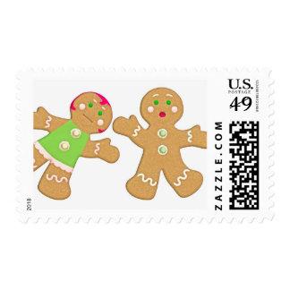 dancing gingerbread postage