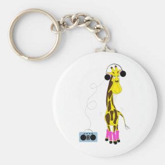 Dancing Giraffe Key Chain