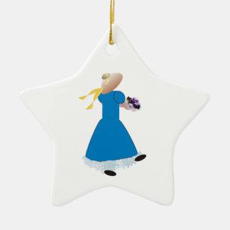 Dancing Girl Ceramic Ornament
