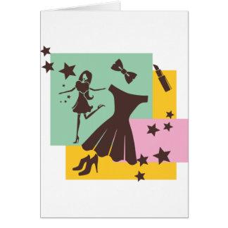 Dancing Girl Fshions and Stars Greeting Card