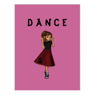 Dancing Girl Postcard