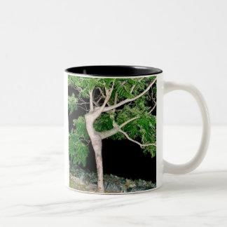 Dancing Girl Tree Two-Tone Coffee Mug