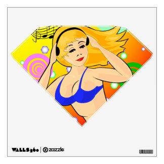 dancing girl  wall decal