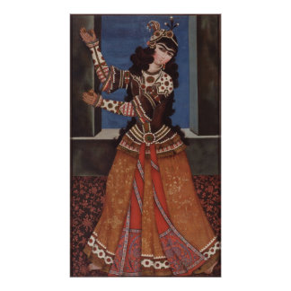 Dancing Girl with Castanets Poster