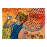 Dancing Girl with Music Notecard Cards