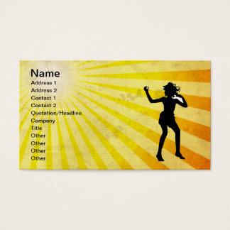 Dancing Girl; yellow Business Card
