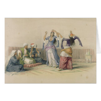 Dancing Girls at Cairo, from 'Egypt and Nubia' Greeting Cards