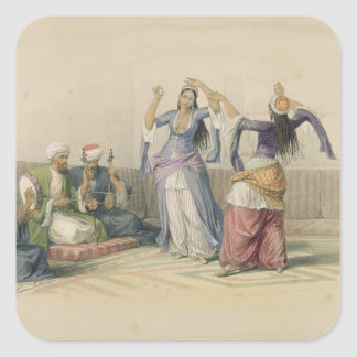 Dancing Girls at Cairo, from 'Egypt and Nubia' Square Sticker