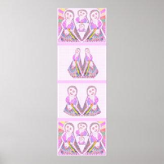 DANCING Girls :  Happy Times Art Poster