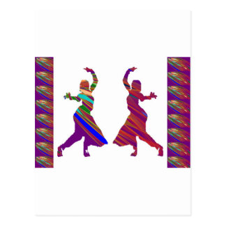 DANCING Girls :  Indian Bollywood Style Dance Post Card