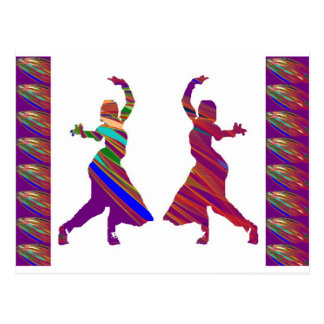 DANCING Girls :  Indian Bollywood Style Dance Post Cards