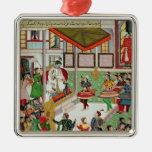Dancing girls taken Baz Bahadur's palace at Malwa Christmas Tree Ornament