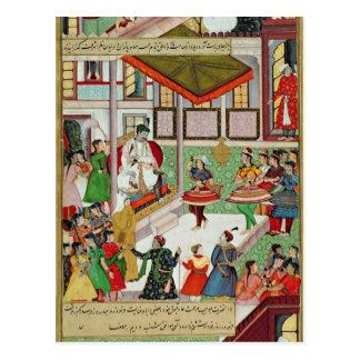 Dancing girls taken Baz Bahadur's palace at Malwa Postcard