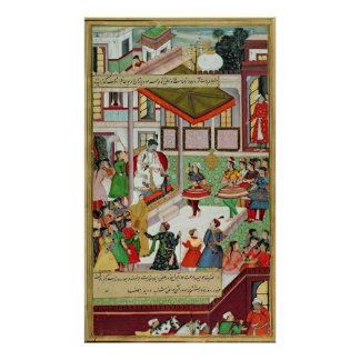Dancing girls taken Baz Bahadur's palace at Malwa Print