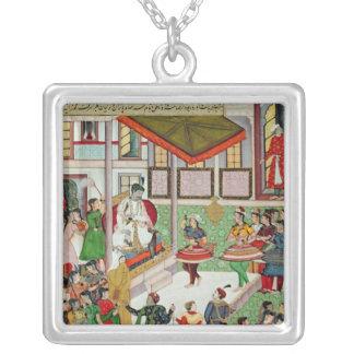 Dancing girls taken Baz Bahadur's palace at Malwa Silver Plated Necklace