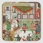 Dancing girls taken Baz Bahadur's palace at Malwa Sticker
