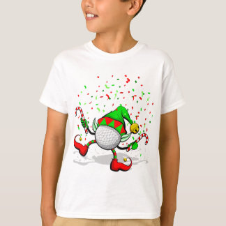 Dancing Golf Christmas Elf T-Shirt