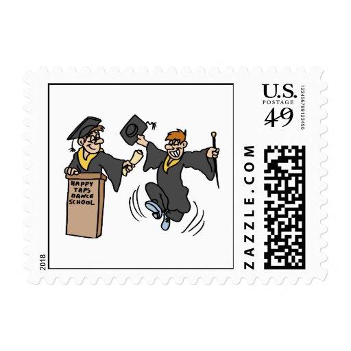 Dancing Grad Stamps