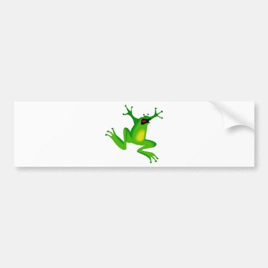 dancing green frog bumper sticker