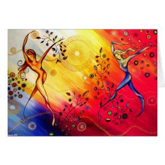 """Dancing"" greeting card by CatherineHayesArt"
