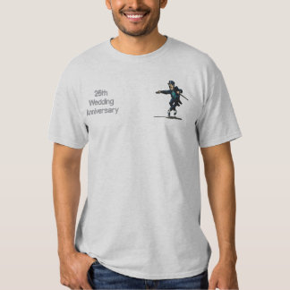 Dancing Groom  - 25th Anniversary Embroidered T-Shirt
